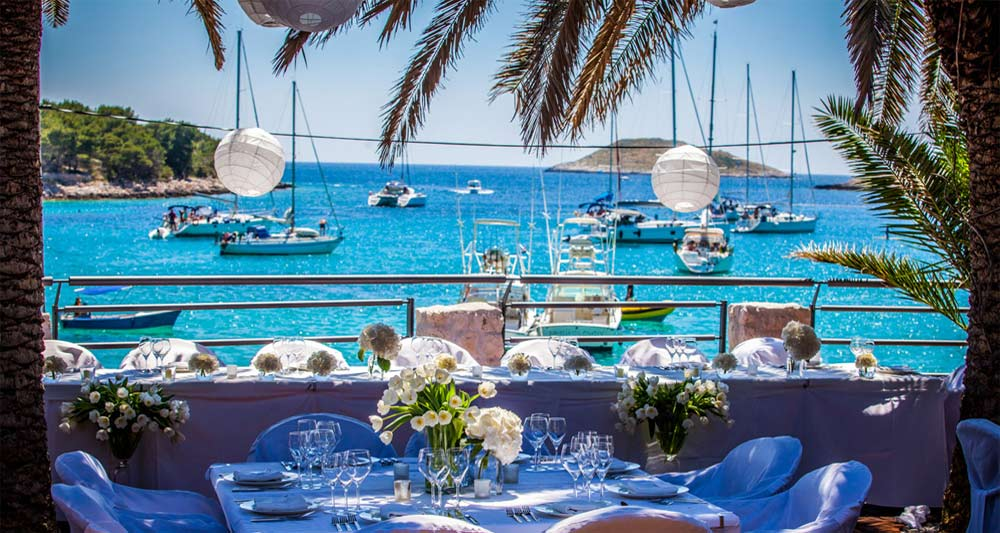 Palmizana beach from Zori Restaurant. Croatia